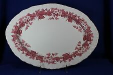 """Wedgewood - BRAMBLE Pink with Shell Edge - 14"""" Serving Platter"""