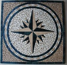 """30"""" Marble Tile Mosaic  Medallion Design Stone Flooring or wall piece  #10a"""