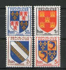TIMBRES N° 951-954 NEUF * * GOMME ORIGINALE -  SERIE D'ARMOIRIES DE PROVINCES
