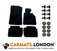 Bmw 3 Series E46 Coupe 98 - 06 Car Floor Mats + 8x Clips (Deluxe Quality Black)