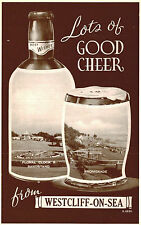 RPPC,Westcliff-on-Sea,U.K.2 Views in Bottle & Glass of Beer,Essex,c.1909