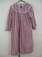 Lanz of Salzburg flannel nightgown M pj vintage 1980s red white floral