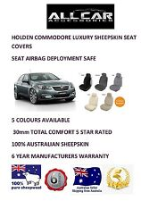 Sheepskin Car Seatcovers for Commodore VT-VF, Seat Airbag Safe, 5 Colours.30mmTC