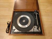 Dual 1214 Record Player Turntable Vintage United Audio Wood