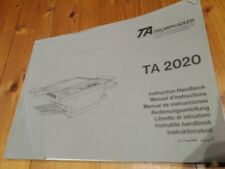 TRIUMPH-ADLER TA 2020 Kopierer Bedienungsanleitung Instruction Handbook Manual