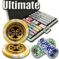New 1000 Ultimate 14g Clay Poker Chips Set with Aluminum Case - Pick Chips!