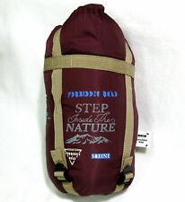 Forbidden Road 3-Season Sleeping Bag 15 ℃/59 ℉  380T Nylon Portable Wine Red NWT