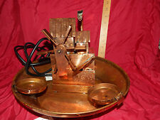 VTF Unique Arts Copper WINDMILL Water Fountain/Planter Water Bucket~WORKS