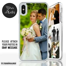 PHOTO or COLLAGE PERSONALISED HARD PLASTIC PHONE CASE COVER IPHONE X XS Max XR