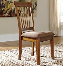 Ashley Signature Design 2-Set Berringer Dining Side Chair in Rustic Brown Finish