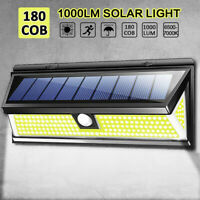 180 COB LED Solar Wall Light Outdoor Garden Security Lamp Motion Sensor 1000LM H