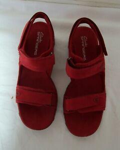 NEW Clarks Red Springers Sandals UK 6