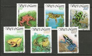 Viét Nam 1991 les batraciens grenouille Y&TN°1223 à 1228 6 timbres oblit /T8475