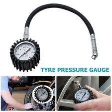 Car Motorcycle Tire Tyre Air Pressure Gauge Deflators Dial Meter Teater 0-60 PSI