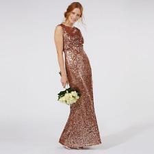 No.1 Jenny Packham Tan Embellished 'carrie' Evening Dress Size UK 14 Dh086 HH 03