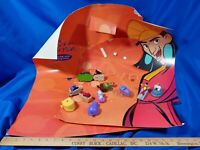 2000 Emperor's New Groove Movie McDonald's Happy Meal Store Display Toys Set VTG