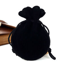 "100 Drawstring Gourd Velvet Bags Black Gift Pouch Wedding Party Favors 4.7""x3.5"""