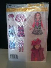 Simplicity Easy-to-Sew Pattern 1724A Toddler Jumper Top Jacket Hat Leggings