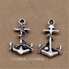 30x   Tibetan Silver Boat anchor Charms Pendant Beads Jewellery Making  PL1081