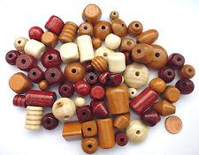 Holz Perlen Mix Natur Braun für Kinder Holzperlen zum Basteln ca 50 Perlen