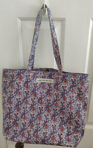 LIBERTY London Print Oilcloth SHOPPER Bag Comic Relief Blue