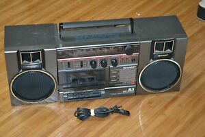 Vintage Sharp GF-A1 Portable Stereo System Detachable Speakers Cassette Tested