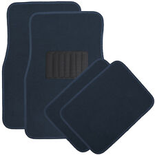 Car Floor Mats for Auto 4pc Carpet Semi Custom Fit Heavy Duty w/Heel Pad Blue