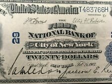 Usa 20 Dollars 1902 (1903) National - New York - Charter #29 - High Grade!