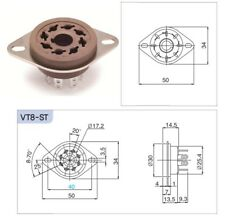 Belton VT8-ST tube socket, zoccolo octal da chassis in micalex