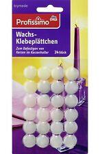 Profissimo Wachs-Klebeplättchen für Kerzen Heftplättchen Kerzenhalter 24 Stck.