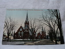MANCHESTER NH New Hampshire 3 Churches 1911 Postcard