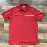 Ping Sensorcool Men's Performance Golf Polo Shirt Red Size Large Short Sleeve