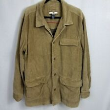 Tommy Bahama Mens Size Large Corduroy Jacket Brown Button Closure