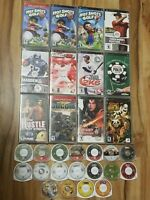 Lot of 30 Sony PSP Games Mixed Lot Duplicates Sports Shooters Fighting Tested