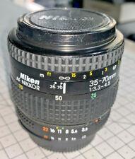 Nikon AF Nikkor 35-70mm f3.3-4.5 wide-tele zoom lens, F-AF mount
