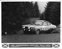BARRIE WILLIAMS SCOTTISH RALLY 1972 VAUXHALL DTV VAUXHALL FIRENZA  PHOTOGRAPH 2