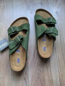 Birkenstock Arizona Soft Footbed Suede Sandals Mens 12-12.5 EU 45 Lichen Green