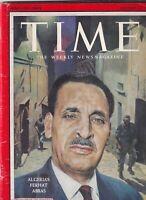 Time Magazine Algeria's Ferhat Abbas October 13, 1958 090419nonr