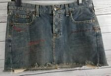 Ruehl No. 925 Mini Skirt Size W-28 Denim Jean Skirt Greenwich Street New York...
