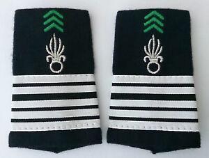 Fourreaux d'épaules Grades Galons pour COLONEL du Cavalerie 1°REC Légion