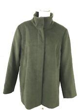 Lands End Womens Coat Size 18W Lightweight Stand Collar Rich Moss Green Peacoat