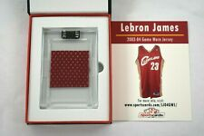 Lebron James Game Worn Basketball Jersey Swatch 2003-04 Cleveland Cavaliers