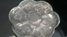 Antique Silver Overlay Glass Dishware