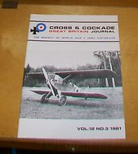CROSS & COCKADE GREAT BRITAIN JOURNAL VOL 12 No 3 1981  DORNIER LANDPLANES ARIGI