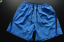 NIKE DRY-FIT RUNNING 100% POLYESTER SOLID BLUE ACTIVE SHORTS SIZE: LARGE