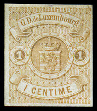 Luxembourg 1863 1 Centimes Buff  SC# 4  No Gum Hinge