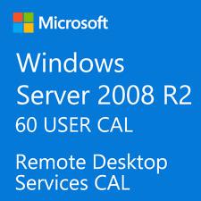 Windows Server 2008 / 2008 R2 Remote Desktop Services RDS 60 USER CAL License