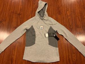 '47 Brand Women's Pittsburgh Steelers Forward Kickback Hoodie Sweatshirt Small S