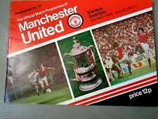 OFFICIAL MATCH PROGRAMME = MANCHESTER UNITED V EVERTON 27th MARCH 1978 = VGC