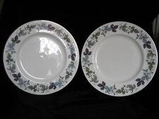 "Royal Doulton Burgundy Pair of 27cm 10.5"" Dinner Plates white blue green purple"